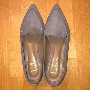 Suede pointed loafers